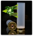 Cheddite 12ga 2-3/4 8mm brass, primed and skived (100/bag)