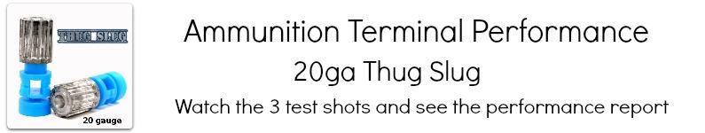 20ga Thug Slug Video