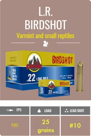Cascade  22 LR Birdshot (50 rds/box)-ballisticproducts com