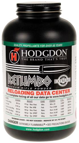Hodgdon RETUMBO Extreme Rifle Powder 8# - ballisticproducts com