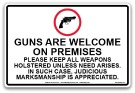 BPI Guns Are Welcome Sign 18